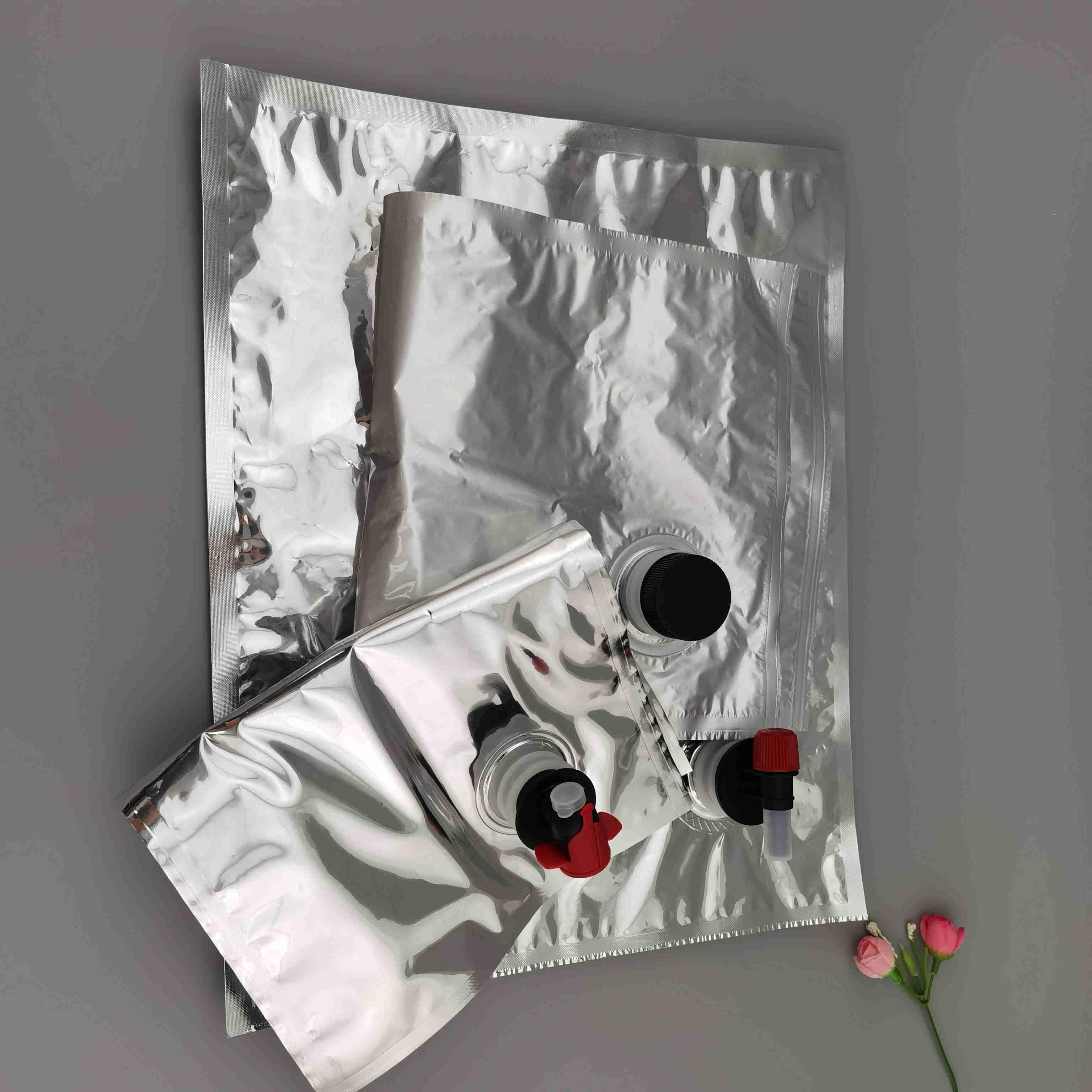 定制5kg装无菌消毒液洗手液蝶阀盒中袋 5L红酒果酱旋盖液体盒中袋