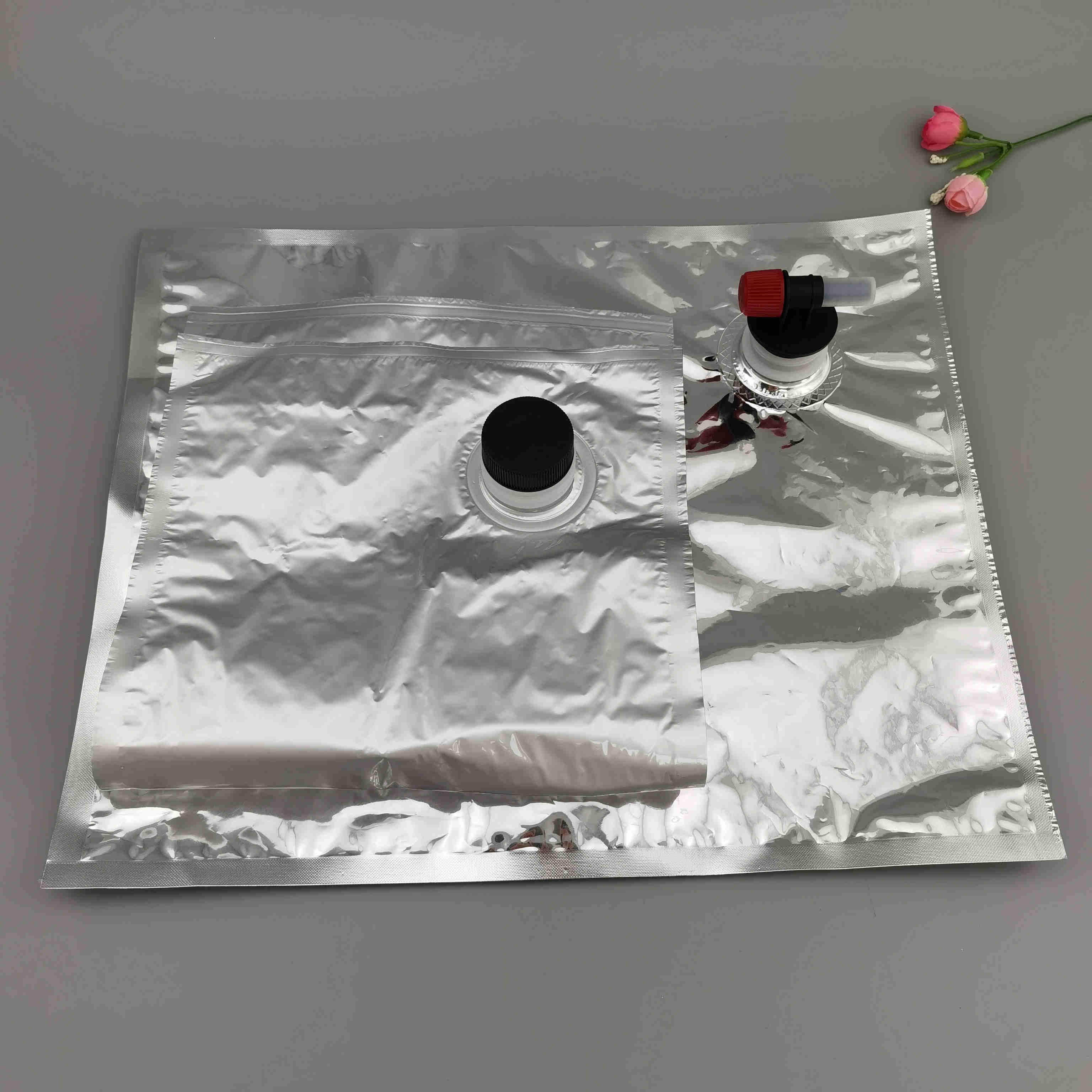 厂家定制10公斤无菌果汁盒中袋10L大容量液体盒中袋压口抗压防爆
