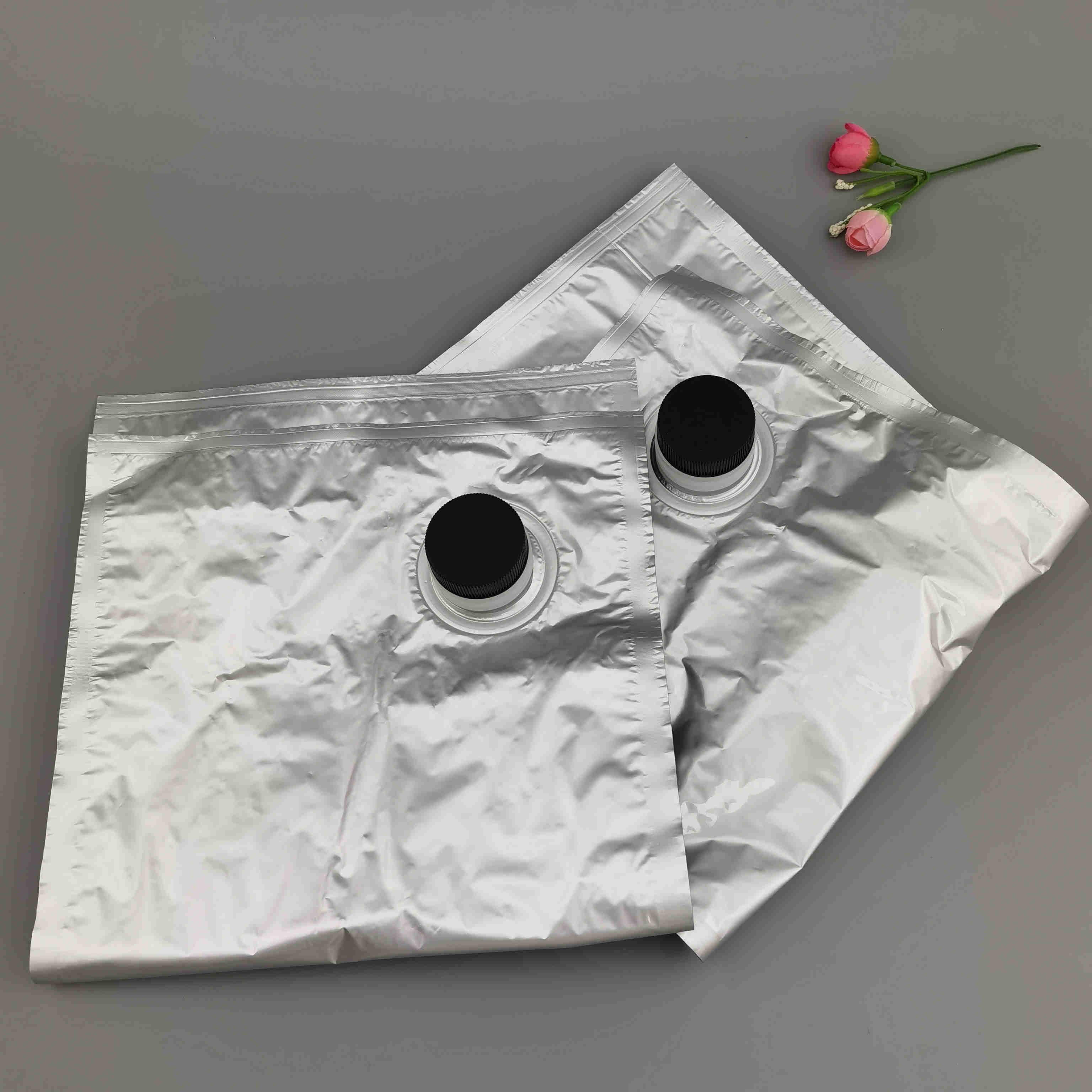 供应BIB无菌镀铝盒中袋 3L饮用水袋装水蝴蝶阀水龙头包装袋定制