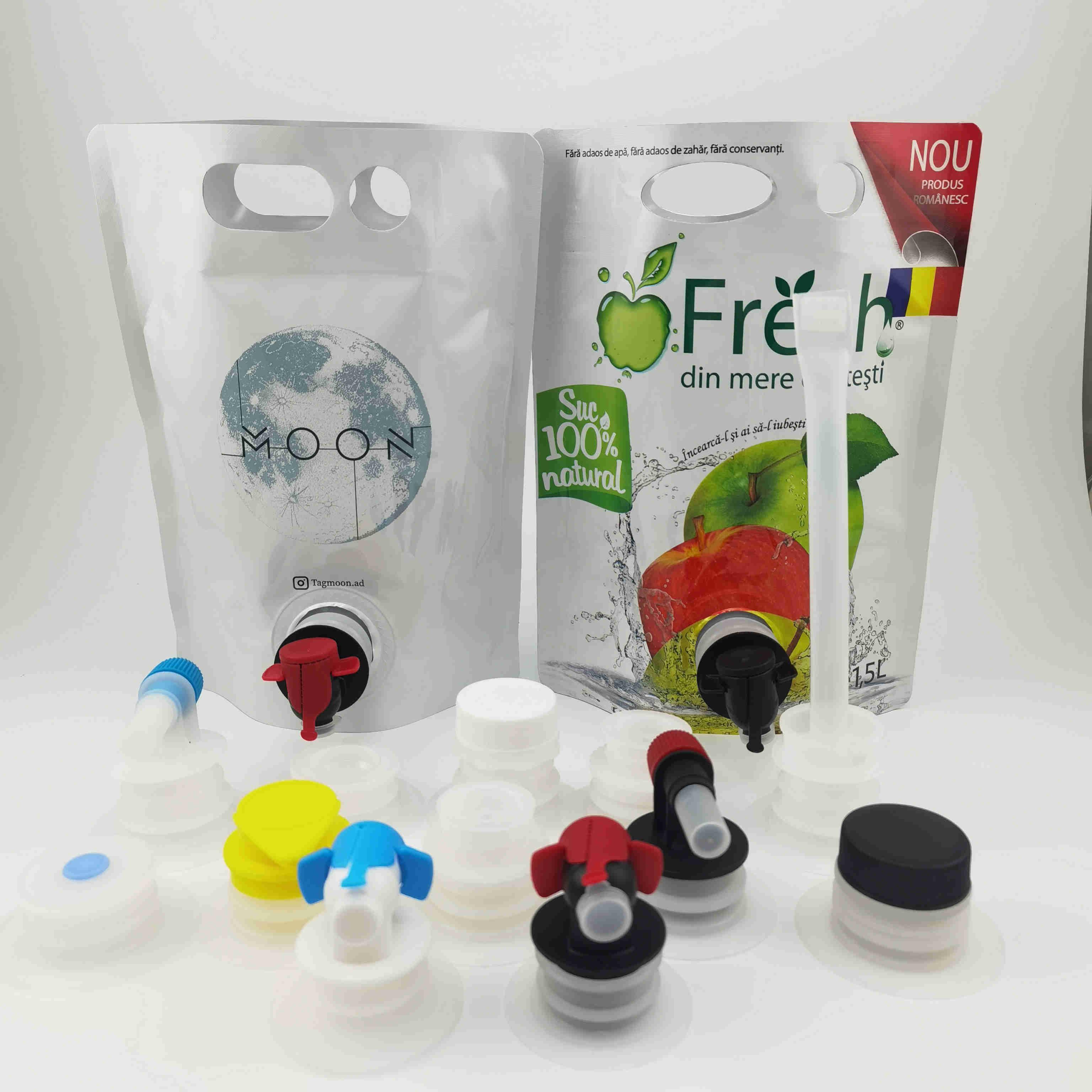 供应5L双插底自立袋果汁袋 红酒袋 带阀门吸嘴袋盒中袋