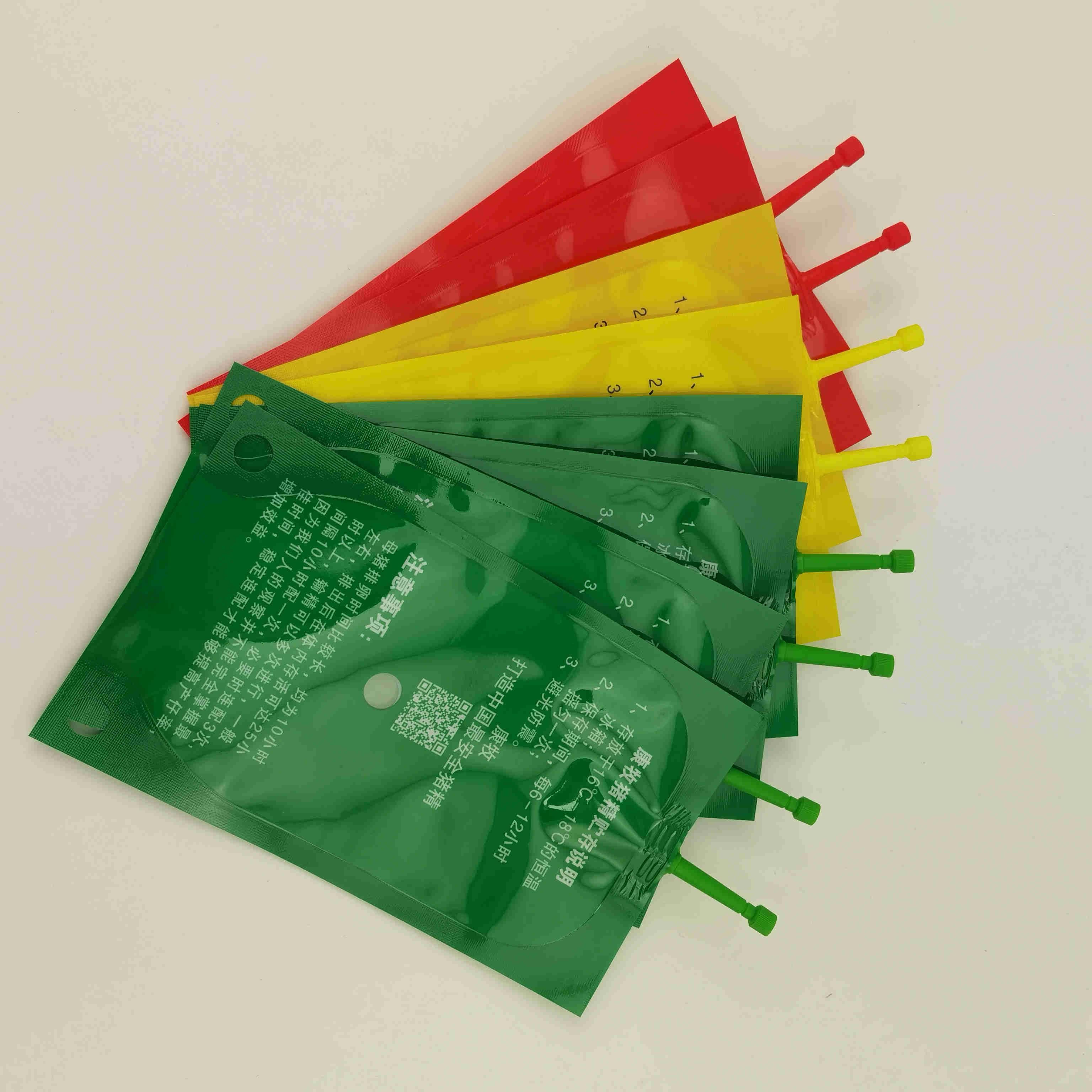 猪精液吸嘴袋供应商80ML100ML动物精液储存袋一次性输精袋