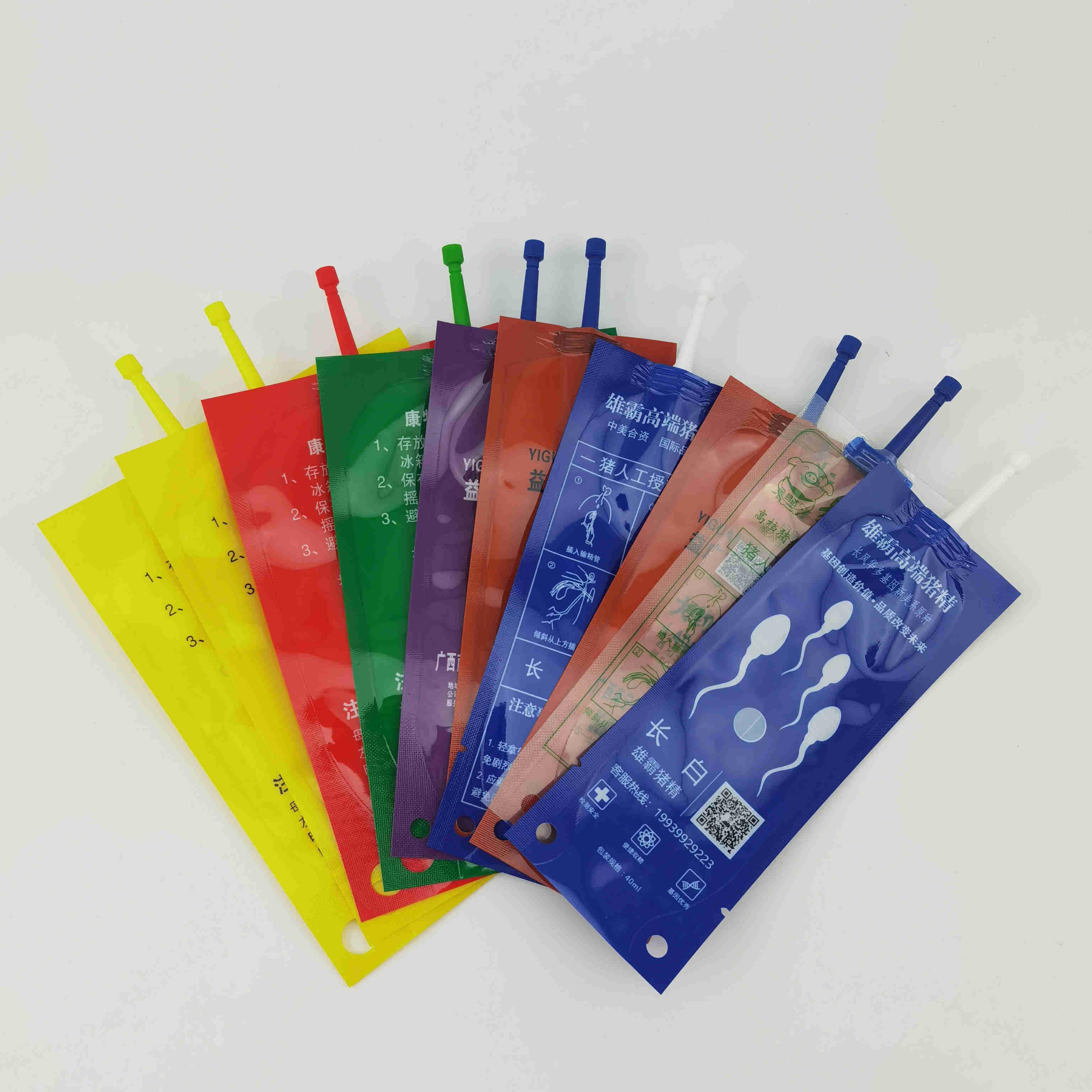 订制一次性猪精袋猪用输精袋公猪采精包装袋冷藏储运精液袋厂家